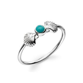 Cove Turquoise Shell Silver Ring