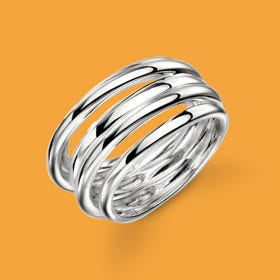 Series 1 Multi Band Silver Ring