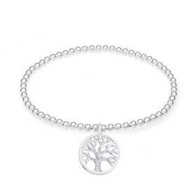 Wald Silver Tree of Life Bracelet