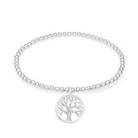 Wald Silver Tree of Life Bracelet