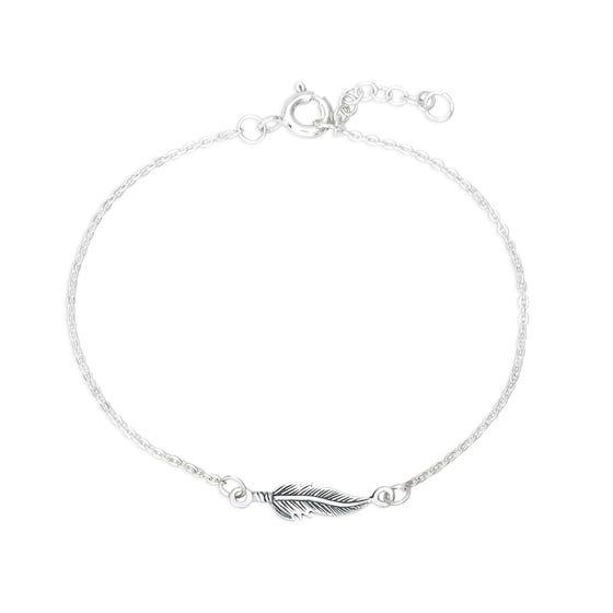 Desert Silver Wing Bracelet