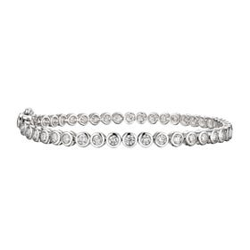 18ct White Gold 3.08ct Diamond Tennis Bracelet