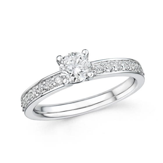 18ct White Gold 0.77ct Diamond Ring