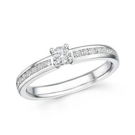18ct White Gold 0.39ct Diamond Ring