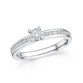18ct White Gold 0.50ct Diamond Ring