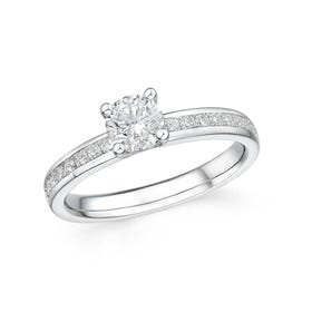 18ct White Gold 0.76ct Diamond Ring