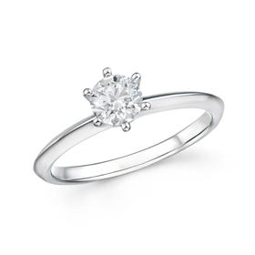 18ct White Gold 0.52ct Diamond Ring