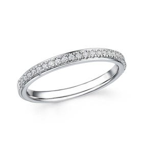 18ct White Gold 0.17ct Diamond Half Eternity Ring