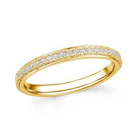 18ct Gold 0.17ct Diamond Half Eternity Ring