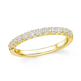 18ct Gold 0.50ct Diamond Half Eternity Ring