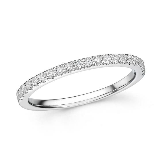 18ct White Gold 0.25ct Diamond Half Eternity Ring