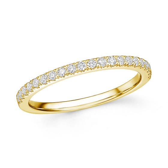 18ct Gold 0.25ct Diamond Half Eternity Ring