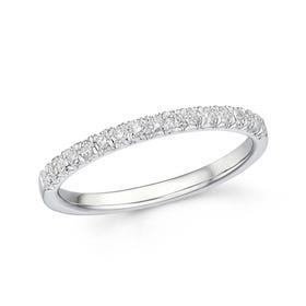 18ct White Gold 0.24ct Diamond Half Eternity Ring