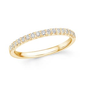 18ct Gold 0.24ct Diamond Half Eternity Ring