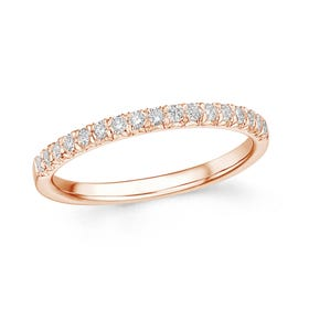 18ct Rose Gold 0.24ct Diamond Half Eternity Ring