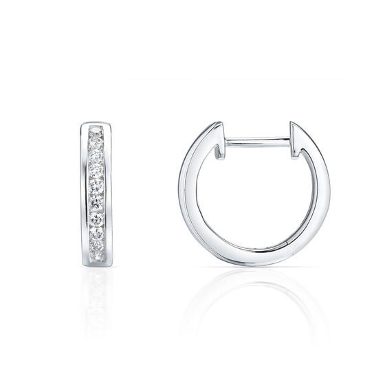 18ct White Gold 0.33ct Diamond Earrings