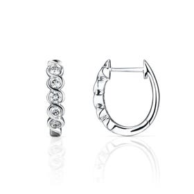 18ct White Gold 0.52ct Diamond Twist Earrings