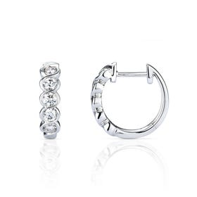 18ct White Gold 0.77ct Diamond Earrings