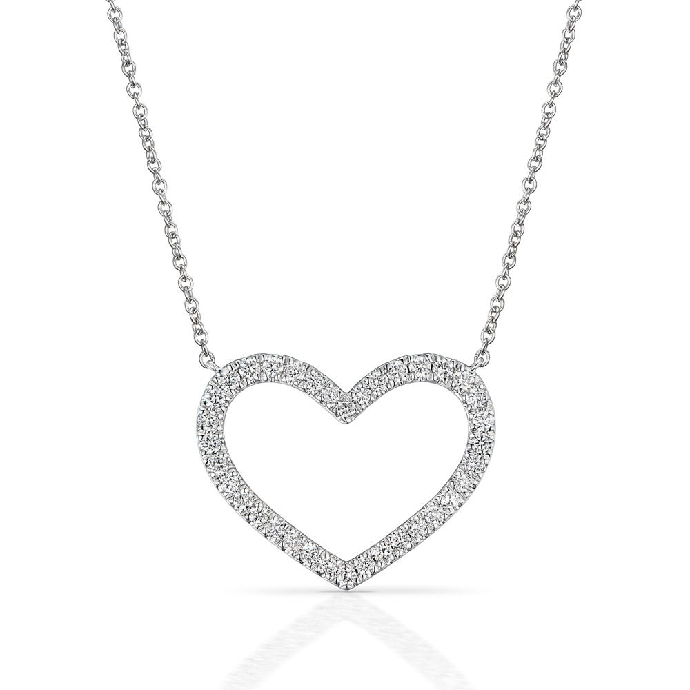 8db16e8dd5ff Fine Jewellery by John Greed 18ct White Gold 0.34ct Diamond Heart ...