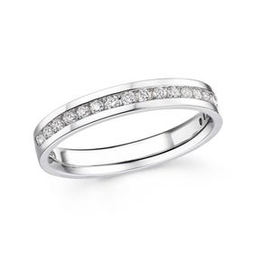 18ct White Gold 0.27ct Diamond Half Eternity Ring