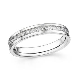 18ct White Gold 0.77ct Diamond Full Eternity Ring