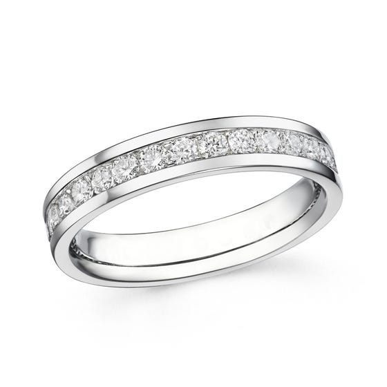 18ct White Gold 1ct Diamond Full Eternity Ring