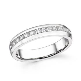 18ct White Gold 0.35ct Channel Set Diamond Half Eternity Ring