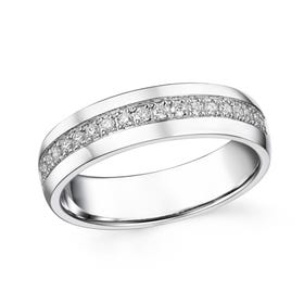 18ct White Gold 0.21ct Diamond Half Eternity Ring