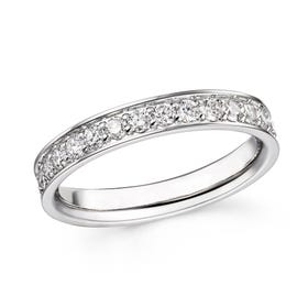 18ct White Gold 1.02ct Diamond Full Eternity Ring