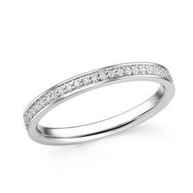 18ct White Gold 0.25ct Diamond Full Eternity Ring