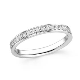 18ct White Gold 0.51ct Diamond Full Eternity Ring