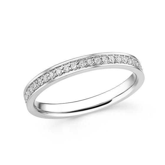 18ct White Gold 0.34ct Diamond Full Eternity Ring
