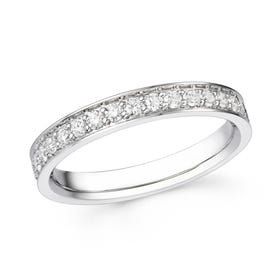 18ct White Gold 0.76ct Diamond Full Eternity Ring