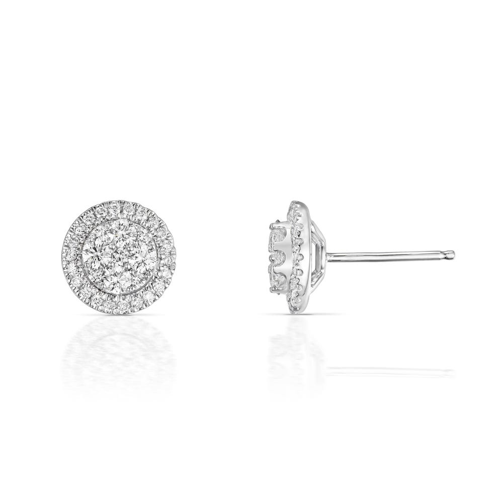 8e3470919 John Greed 18ct White Gold 0.76ct Diamond Halo Earrings