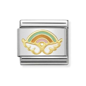 Classic 18ct Gold & Enamel Angel of Wishes Charm