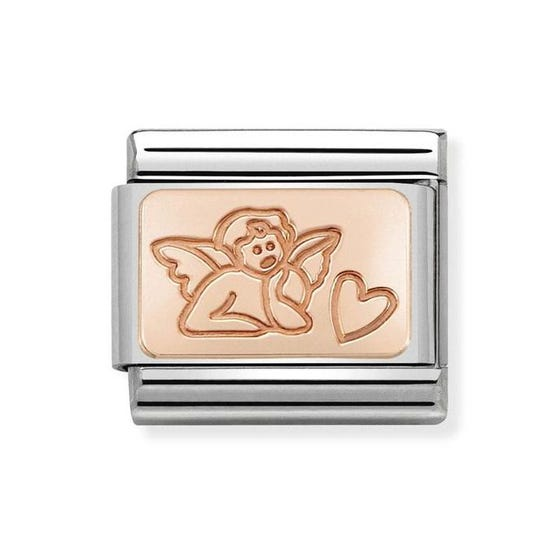 Classic 9ct Rose Gold Angel of Love Charm