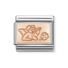 Classic 9ct Rose Gold Angel of Good Luck Charm