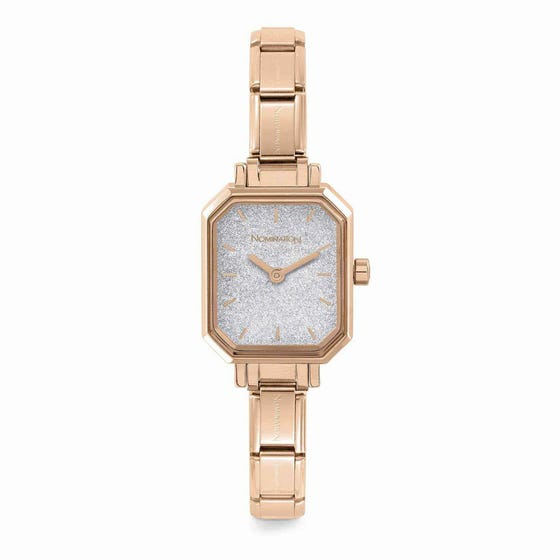 Classic Paris Rose Gold Plated Glitter Watch