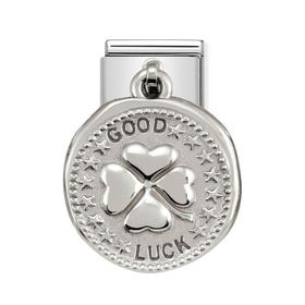 Classic Silver Good Luck Charm