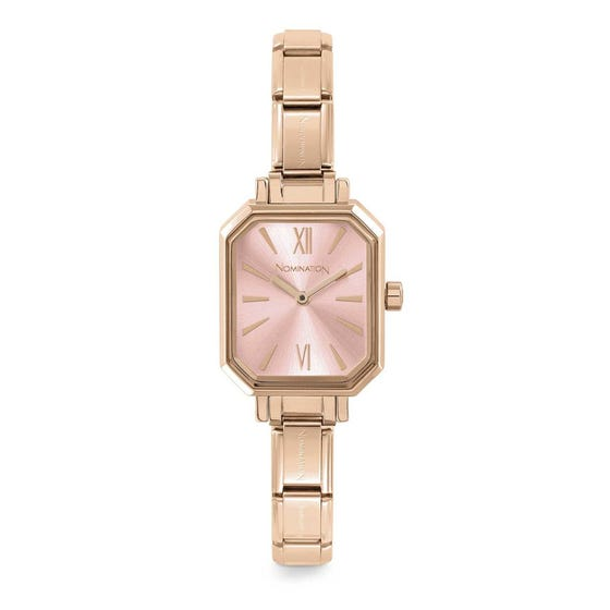 Classic Paris Rose Gold Plated Pink Watch