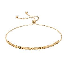 9ct Gold Diamond Cut Bead Bracelet