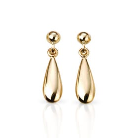 9ct Gold Teardrop Earrings