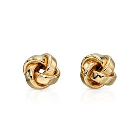 9ct Gold Small Knot Stud Earrings