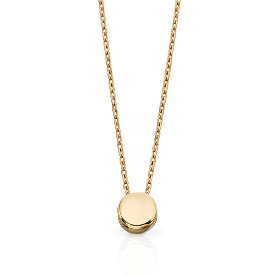 9ct Gold Circle Disc Necklace