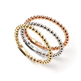 9ct Gold Tri-Colour Set of Three Stacking Rings