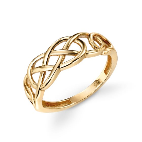9ct Gold Celtic Pattern Ring