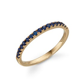 9ct Gold Sapphire Band Ring