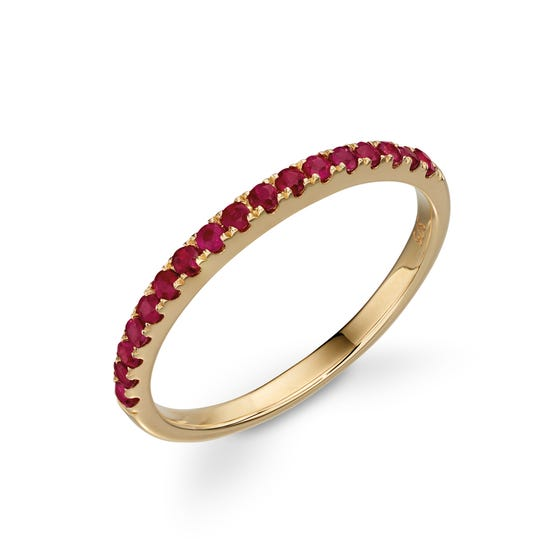 9ct Gold Ruby Band Ring