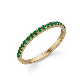 9ct Gold Emerald Band Ring