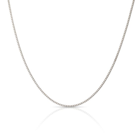 9ct White Gold Box Chain with Extender